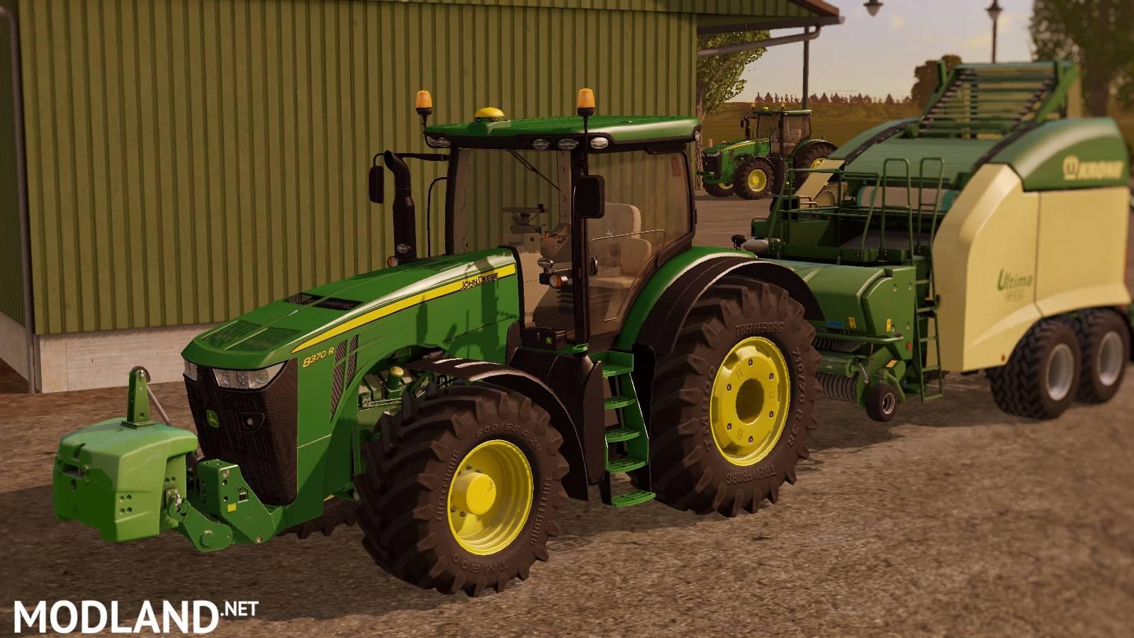john deere 8r series mod farming simulator 17. Black Bedroom Furniture Sets. Home Design Ideas