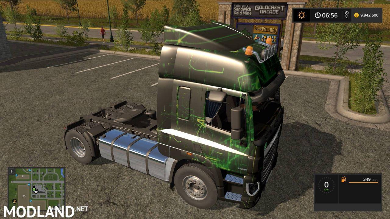 DAF XF 95 Green decal