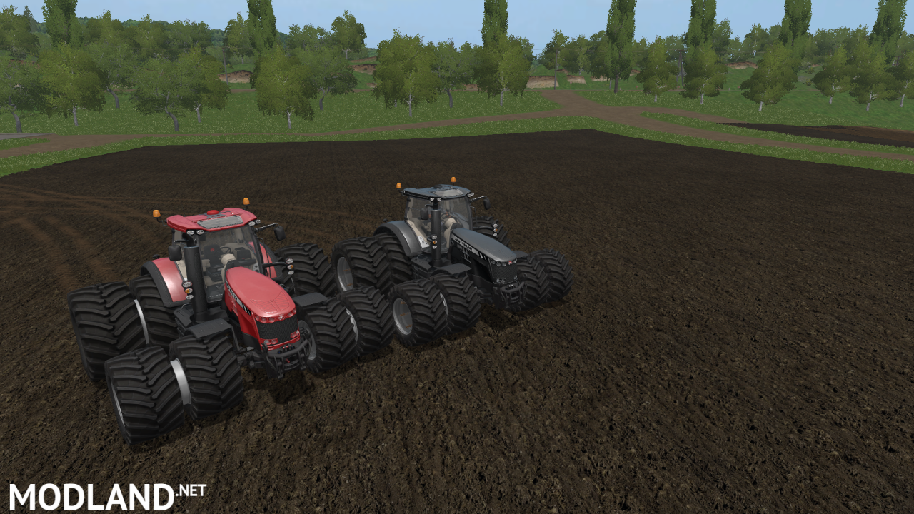 FS17 MASSEY FERGUSON 8700 RED AND BLACK