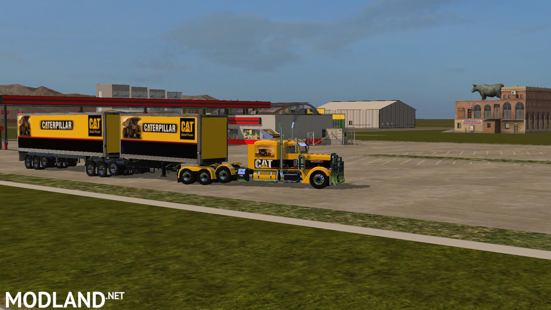 FS17 B-Double UPS Trailers mod Farming Simulator 17