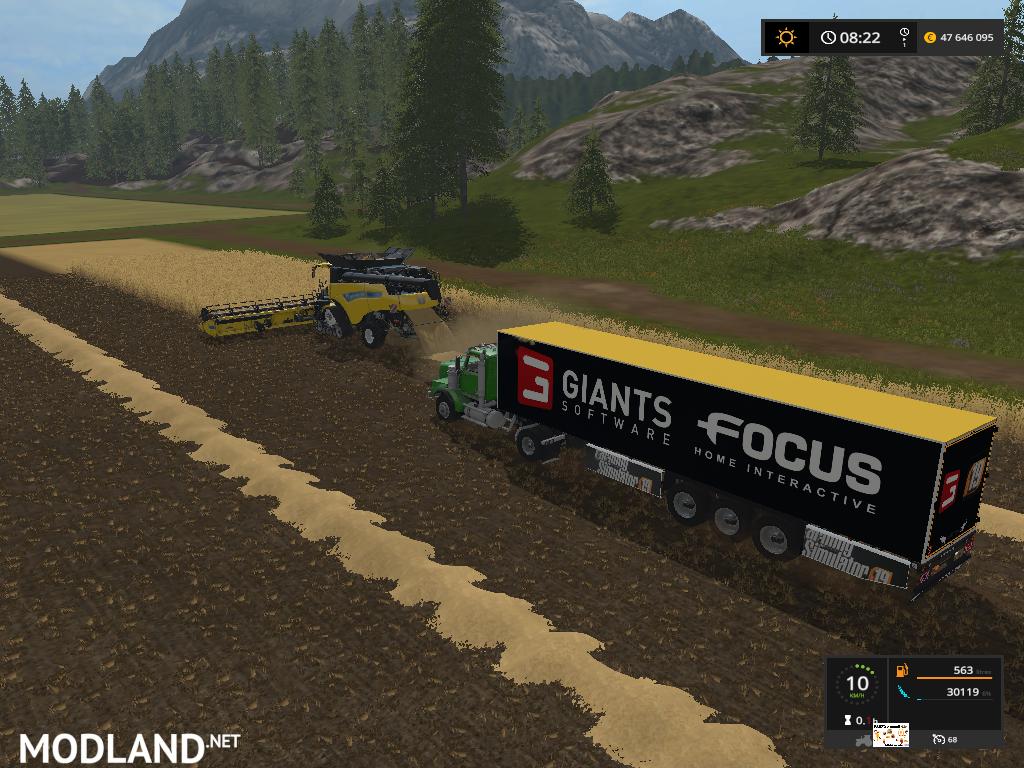 TRAILER GIANTS FOCUS FS 19 mod Farming Simulator 17