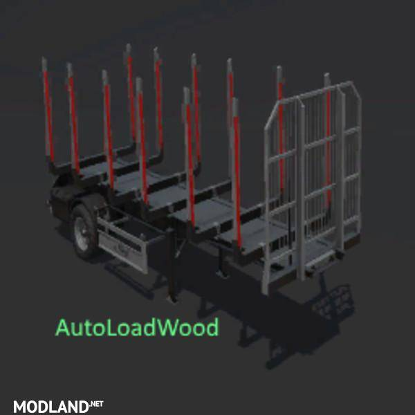 FS17 FLIEGL TIMBER RUNNER SHORT WITH AUTOLOAD WOOD