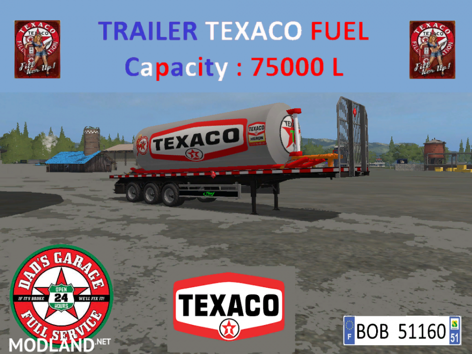 TEXACO FUEL TRAILER (BY BOB51160)