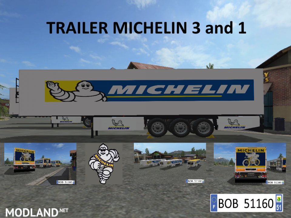 TRAILER MICHELIN 3AND1 (BOB51160)
