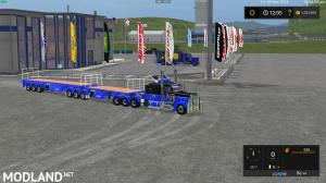 FS17 B-Double FlatBed Trailers