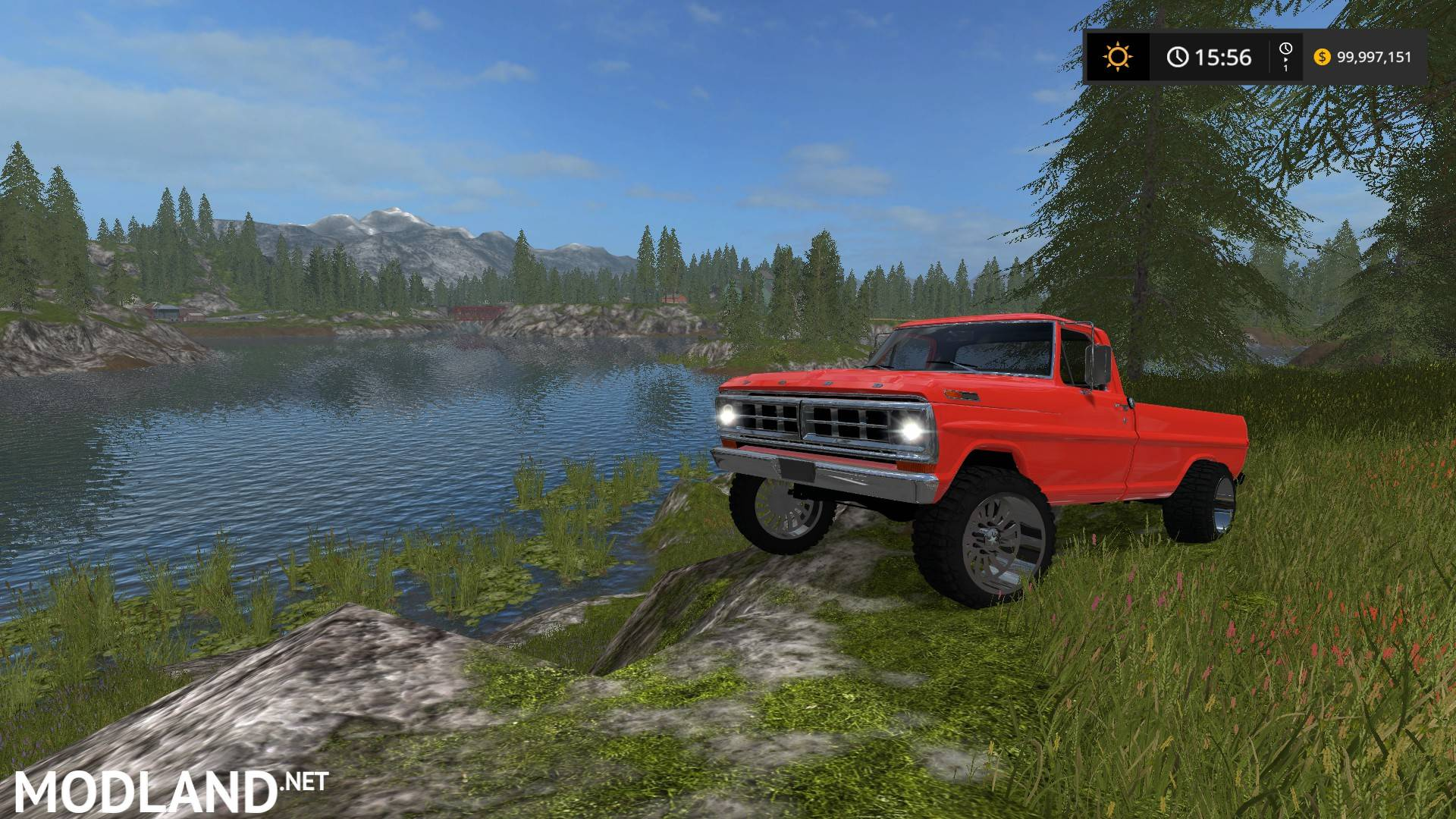 Ford F100 Chrome Mod Farming Simulator 17