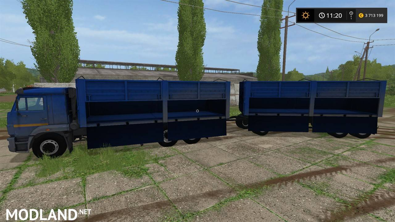 Kamaz 65221 Trailer Mod Farming Simulator 17