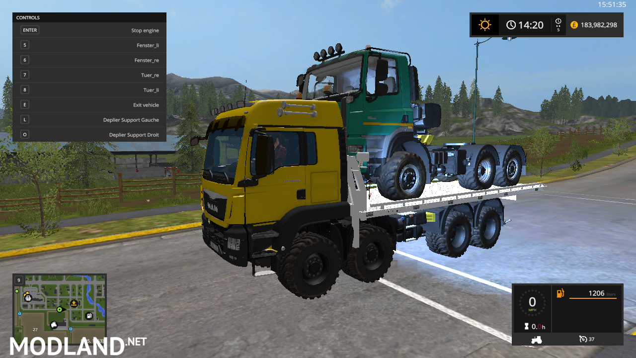 SCANIA TOW TRUCK mod Farming Simulator 17