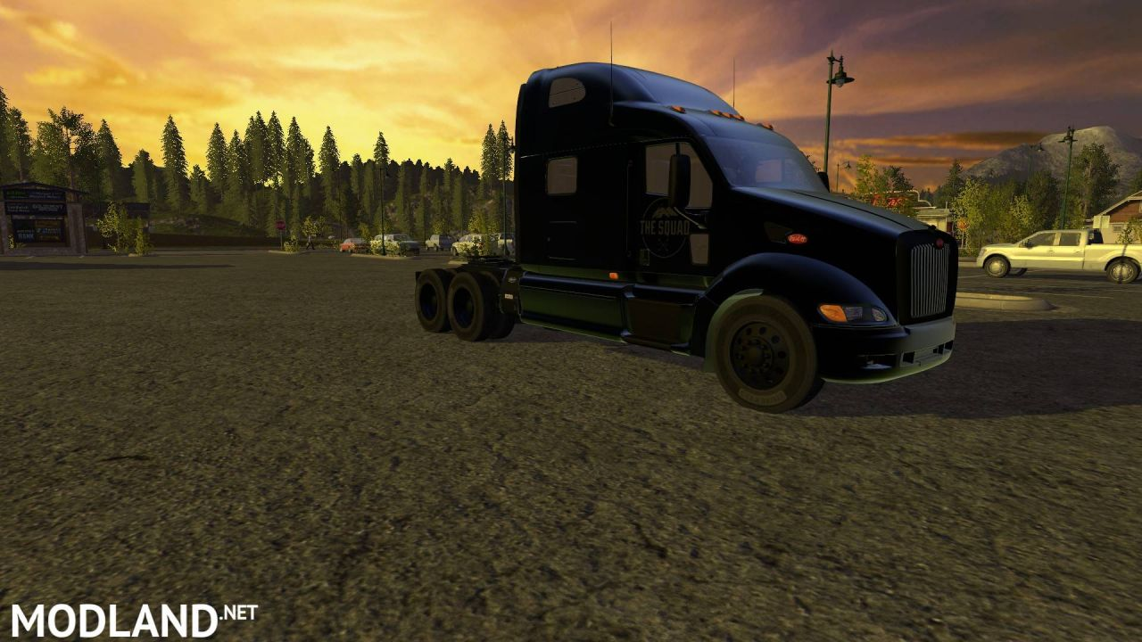 Peterbilt 387 Blacked out ghosted Squad edition