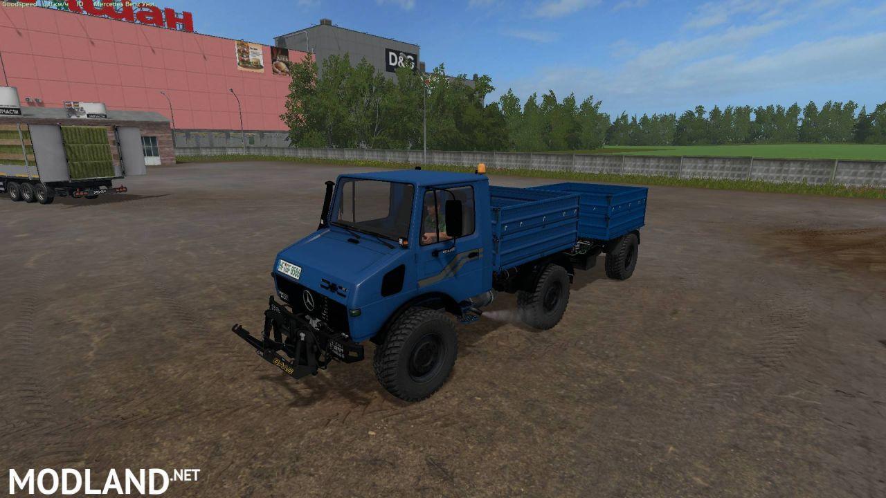 Mercedes-Benz Unimog 1600+trailer for FS 17(Tanker seeders)