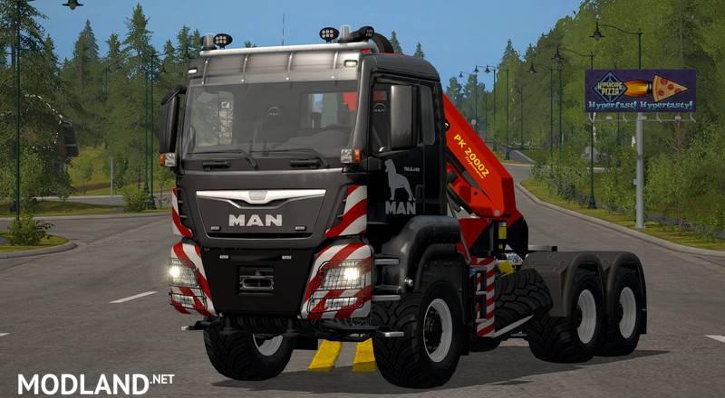 MAN TGS 6×4 crane