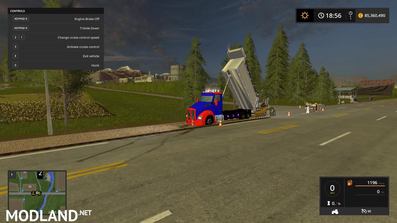 kenworthT880 dump truck