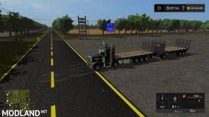 Peterbilt 10x10 Flatbed and Trailer fixed link, 1 photo