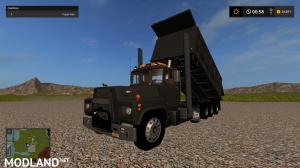 1977 mack R model dump truck, 3 photo