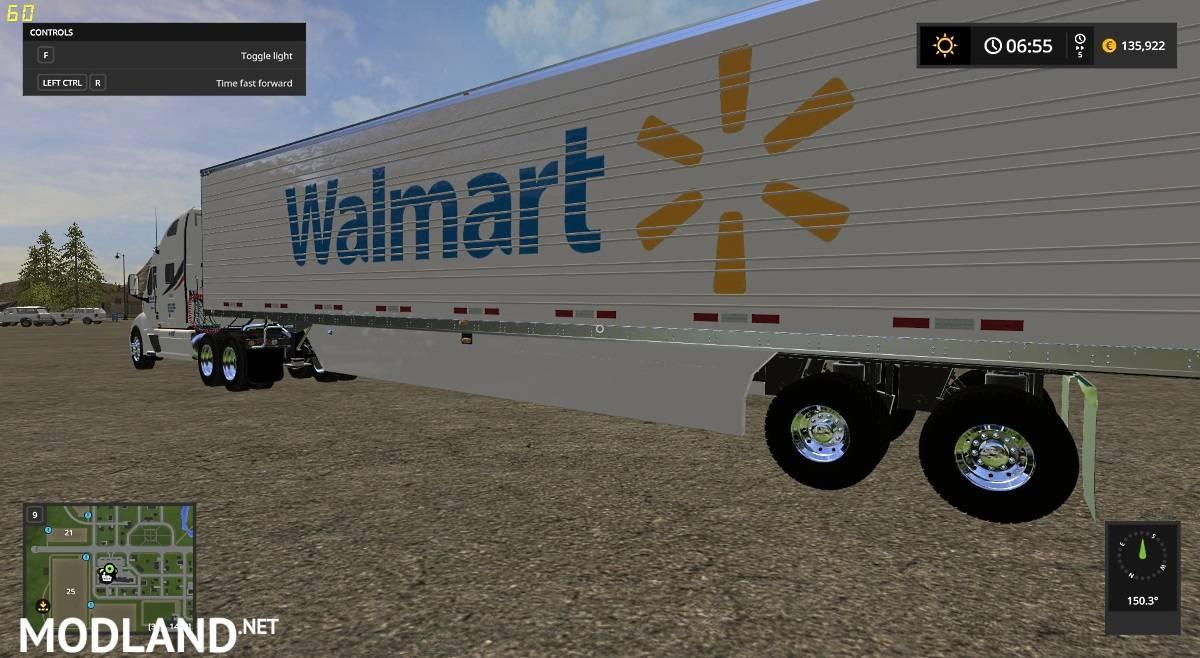 Walmart Peterbilt and Trailer mod Farming Simulator 17