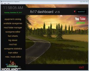 FS17 Dashboard v 1.5