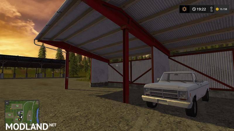 Black Vehicle Shelters : Vehicle shelter by lizard mod farming simulator