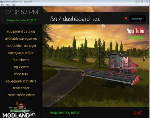 FS17 Dashboard v 2.0