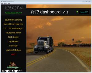 FS17 Dashboard v 1.2