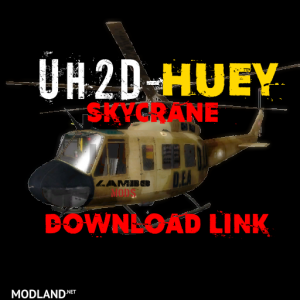 UH2D HUEY DEA HELICOPTER SKYCRANE v1.0 - External Download image