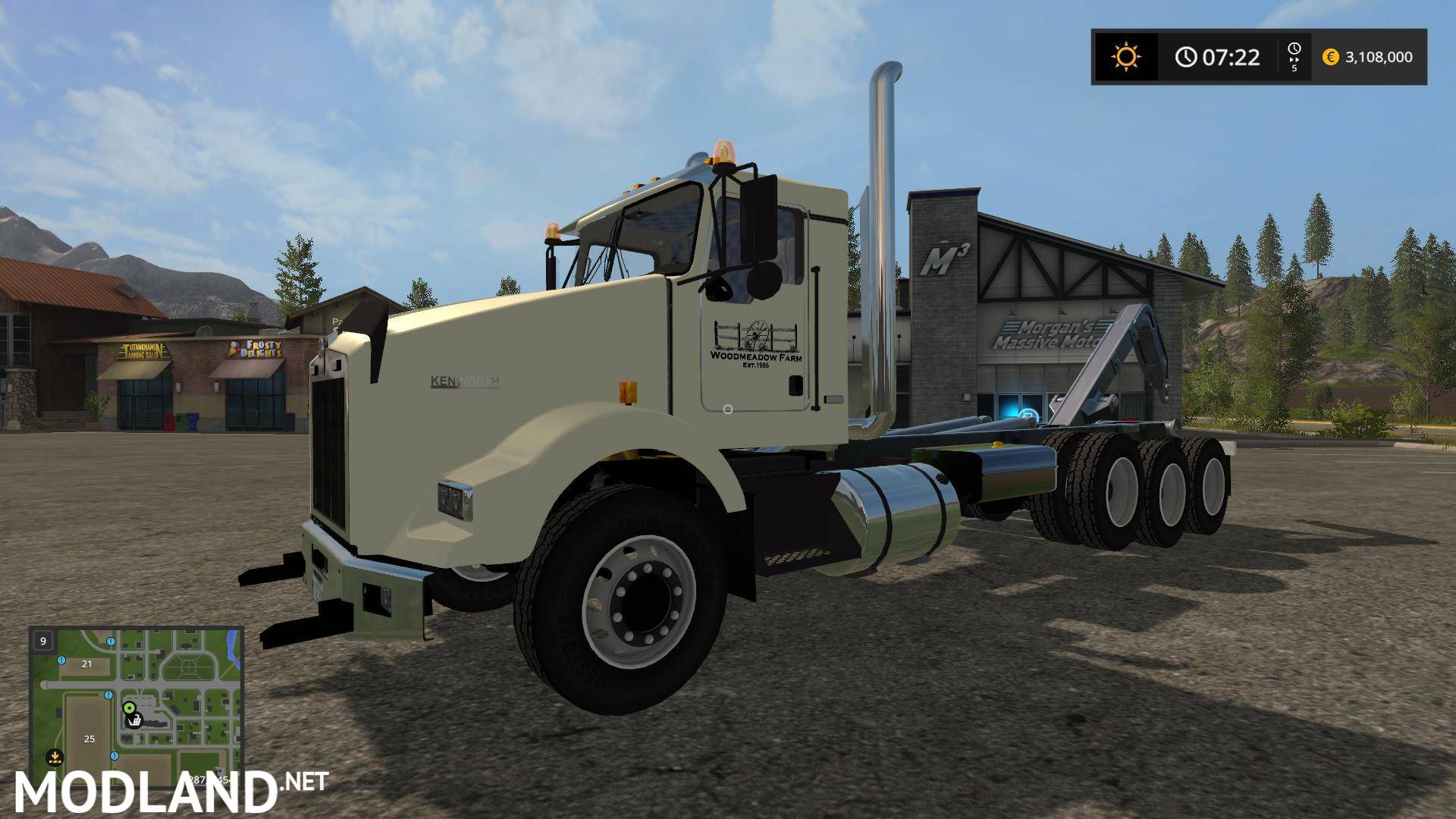 wmf kenworth t800 hooklift v 1 0 mod farming simulator 17. Black Bedroom Furniture Sets. Home Design Ideas