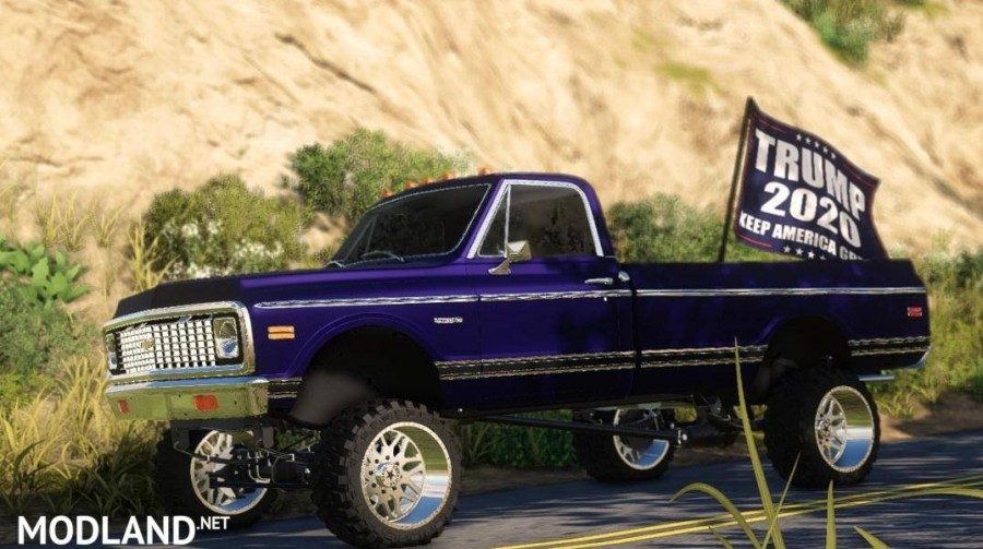 Ford Long Bed With trump flag