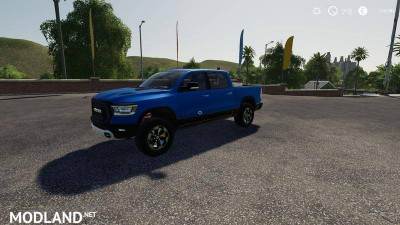 Dodge Ram 1500 blue flashing beacon v 1.0 - Direct Download image