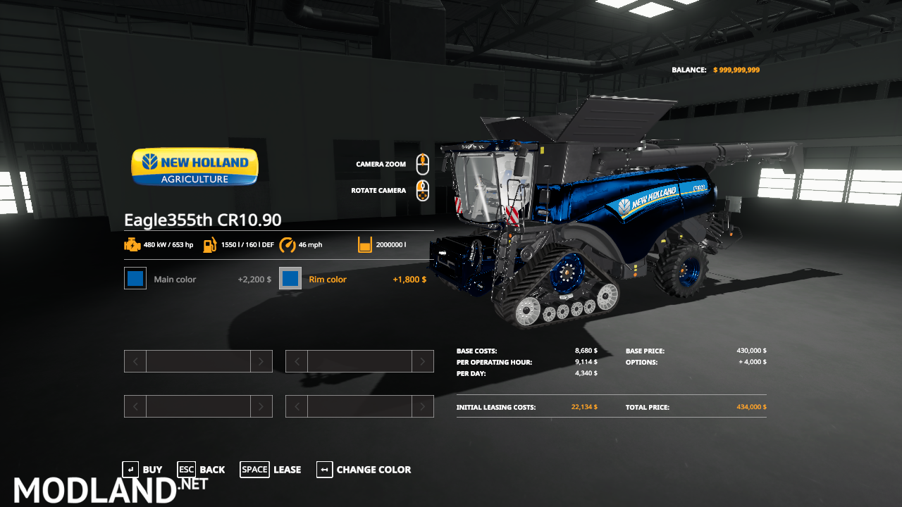 FS 19 Eagle355th New Holland Pack VE