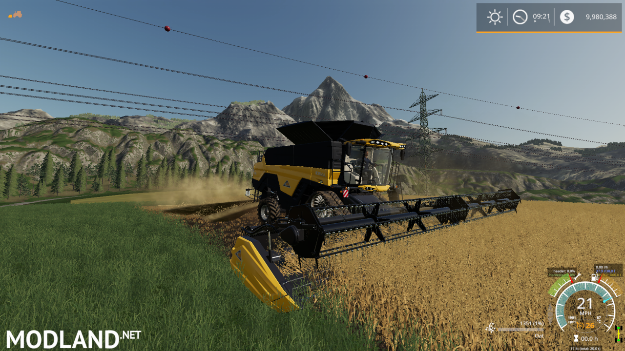 BigRich Mods Agco Ideal combine harvester