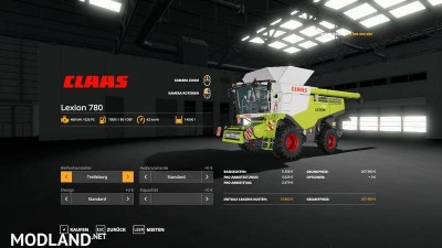 Lexion 780 with capacity selection and cutters v 1.1, 10 photo