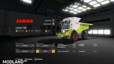 Lexion 780 with capacity selection and cutters v 1.1, 11 photo