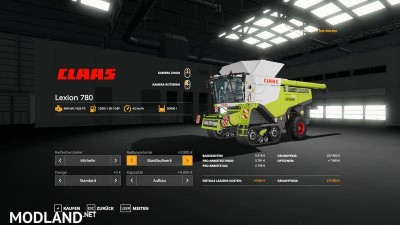 Lexion 780 with capacity selection and cutters v 1.1, 12 photo