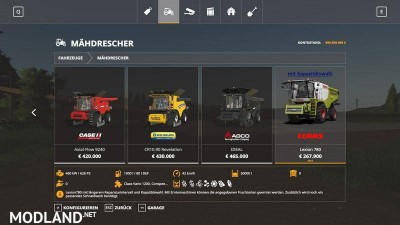 Lexion 780 with capacity selection and cutters v 1.1, 7 photo