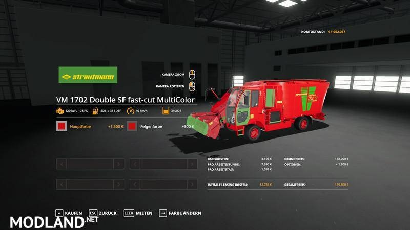 Strautmann vertiMix1702 - Double loading capacity