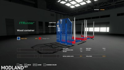 Adjustable hooklift Wood Container v 1.0, 3 photo
