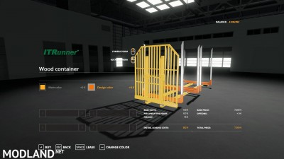 Adjustable hooklift Wood Container v 1.0, 4 photo