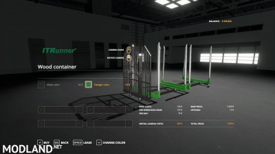 Adjustable hooklift Wood Container v 1.0, 1 photo