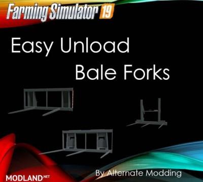 Easy Unload Bale Forks v 1.0, 1 photo
