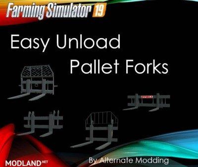 Easy Unload Pallet Forks v 1.0, 1 photo