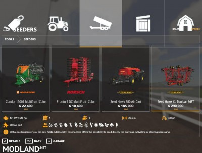 FS19 Seed HAwk Pack v 1.0