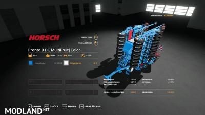 Horsch Pronto9DC - MultiFruit - MultiColor v 1.2