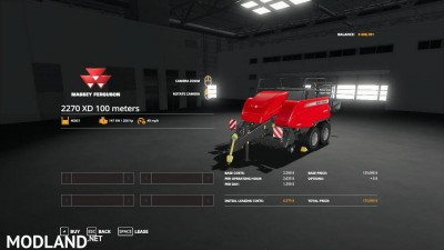 Massey Ferguson 2270 100 meter baler v 1.0, 3 photo