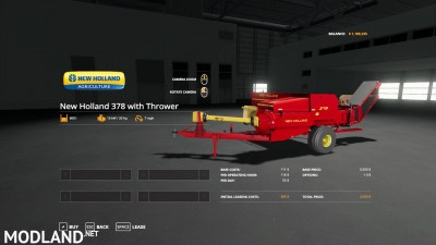 New Holland 378 Baler with Options v 1.2, 2 photo