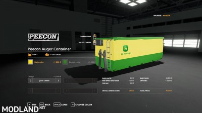 Peecon hooklift Auger Container v 1.0, 10 photo