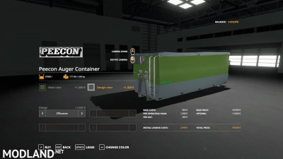 Peecon hooklift Auger Container v 1.0, 11 photo