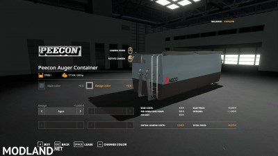 Peecon hooklift Auger Container v 1.0, 12 photo