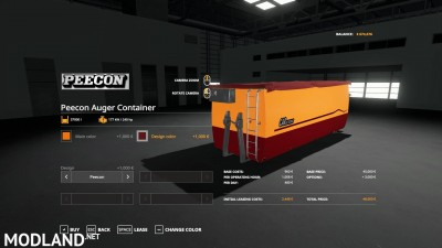 Peecon hooklift Auger Container v 1.0, 8 photo