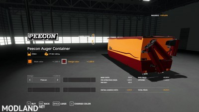 Peecon hooklift Auger Container v 1.0, 9 photo