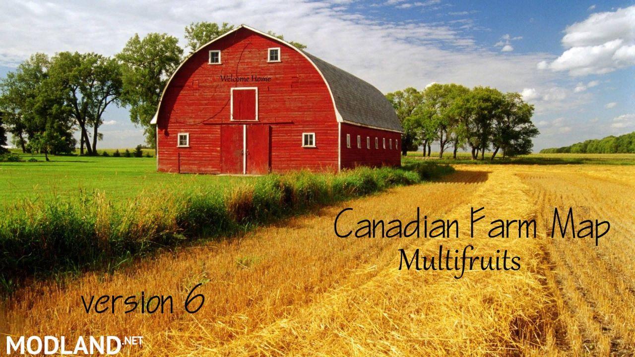 Canadian Farm Map 6  Multifruits, Seasons