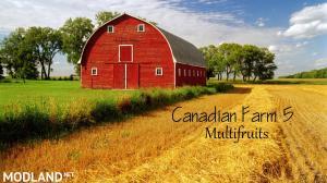 Canadian Farm Map 5 Multifruits, seasons